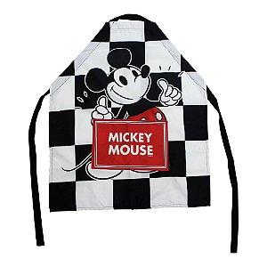 Avental Canvas c/ Bolso Disney - Mickey Xadrez