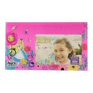 Porta Retrato de Vidro 10x15 Disney - Alice Floral