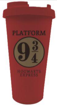 Copo para Viagem c/ Tampa 500ml Harry Potter - Plataforma 9 3/4