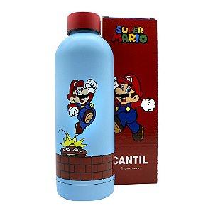 Garrafa Térmica Cantil Max 550ml Super Mario