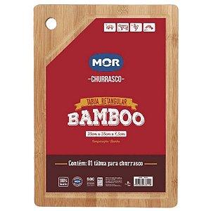 Tábua Retangular Bamboo 35x25cm MOR