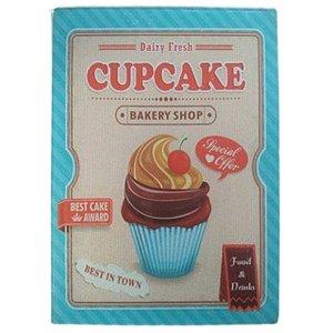 Tábua de Vidro 25x35CM Cupcake HUVI