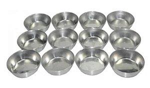 Forma N° 4  7,5 x 2,8 cm em Alumínio para Empadas  pacote com 12 Caparroz