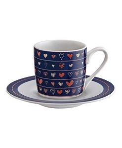 Jogo de Xícaras de Café 90ml - 12 peças - coração hauskraft