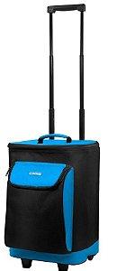 Cooler térmico- 25 L com carrinho - Soprano - Azul
