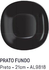 Prato Fundo Preto 21 cm Carine Luminarc