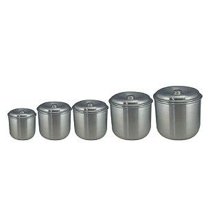 Jogo Mantimentos Polido- 5 Peças - Max Aluminios
