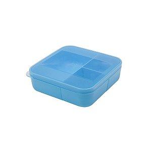 Pote  Hermético Marmita Azul 700 ml 3 Divisórias Dup