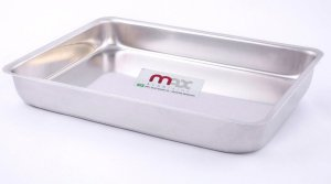 Assadeira Retangular Nº 1 5 x 19 x 27 cm Max Alumínios