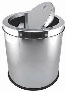 Lixeira Basculante 5 litros em Inox Gp Inox