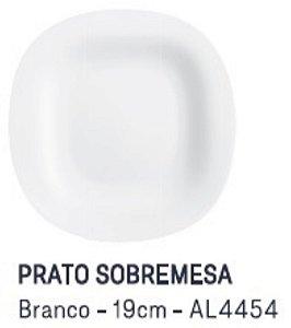 Prato de Sobremesa Branco 19 cm Carine Luminarc