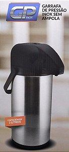 Garrafa Térmica 3 Litros com Pressão em Inox Gp Inox
