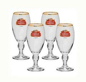 Jogo de Taças Stella Artois 250 ml com 4 peças Ambev