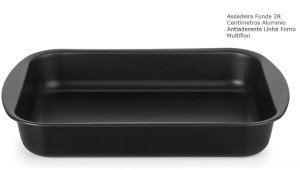 Assadeira Antiaderente Funda 28 cm Multiflon