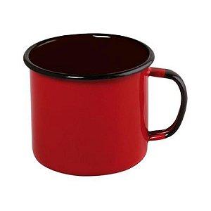 Caneca Esmaltada 370ml Vermelha Ewel