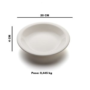 Prato fundo sem aba 20cm Porcelana GP INOX