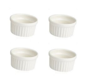 Kit com 4 Ramekin 6 cm Porcelana GP INOX