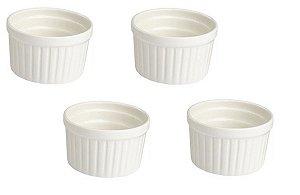 Kit com 4 Ramekin 7 cm Porcelana GP INOX