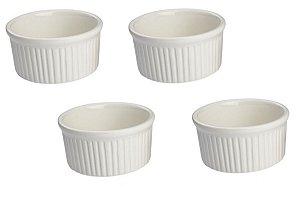 Kit com 4 Ramekin 9 cm Porcelana GP INOX