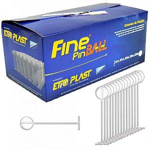 FINE PIN BALL 40 MM - ETIQ PLAST - CAIXA BOX 5 MILHEIROS