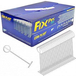 FIX PIN 100 25 MM - COR PRATA - CAIXA BOX COM 5 MILHEIROS