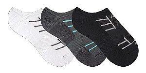 Kit com 3 pares meia Rikam Micro Runner