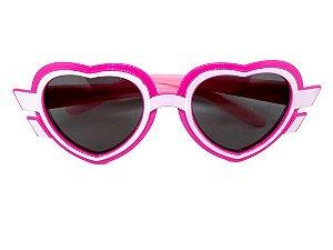 Óculos Infantil Love Sun com Armação Flexível Modelo Coração - Lentes Polarizadas