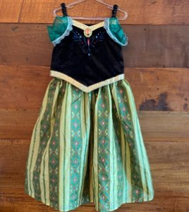 Vestido princesa Ana  Disney - 7 a 8 anos