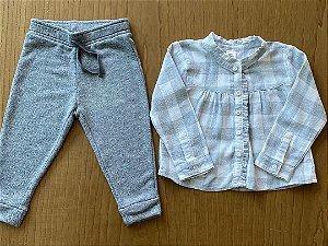Conjunto Calça GAP + Camisa Oshkosh - 18 a 24 meses