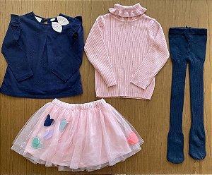 4 peças Zara e importadas - 18 a 24 meses