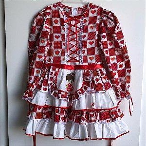 Vestido Julino Importado - 10 anos