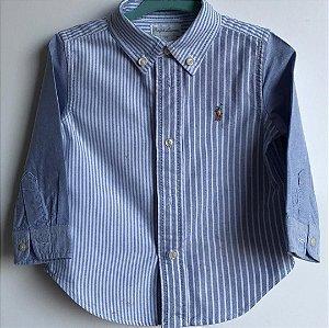 Camisa Ralph Lauren - 12 meses