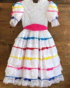Vestido junino - 6 anos