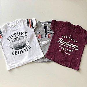 Camisetas ( 2 Carter's e 1 Tyrol) - 3 Meses