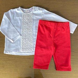 Conjunto Bata Zara + Legging Ralph Lauren - 9 a 12 meses