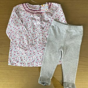 Conjunto Bata importada + Legging Ralph Lauren - 12 a 18 meses