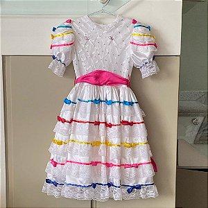 Vestido Caipira - 6 a 7 anos