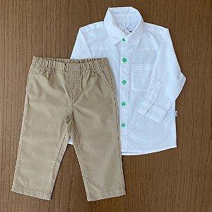 Camisa PUC + Calça ZARA - 12 meses