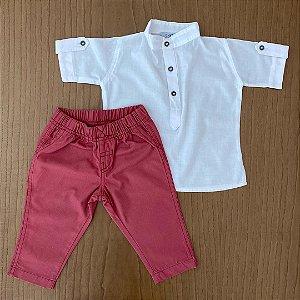 Calça Carter's + Camisa importada - 6 meses