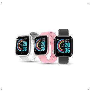 Relógio Inteligente Smartwatch D20 Bluetooth Cores