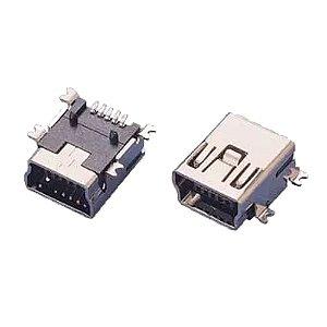 Conector Mini Usb Fêmea 5 Pinos Solda Smd Controle De Ps3