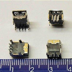 Conector Mini Usb Fêmea 5 Pinos Dip Controle De Ps3