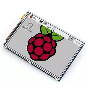 Raspberry Tela Lcd 3.5 Touch Pi2 Pi3 Tft Pi 2 E 3 + Caneta