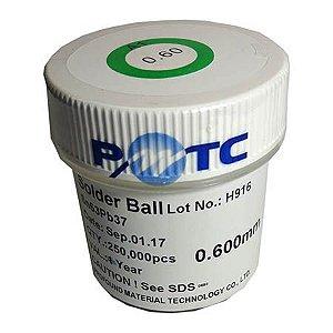 Esferas solda bga 0,60 chumbo pote 250k