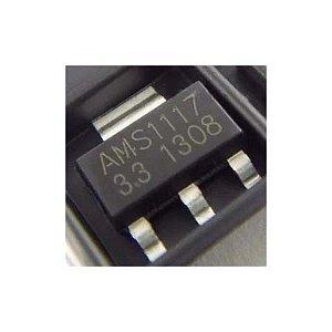 Ci Ams1117 3,3v Regulador Tensão Smd (5 Peças)