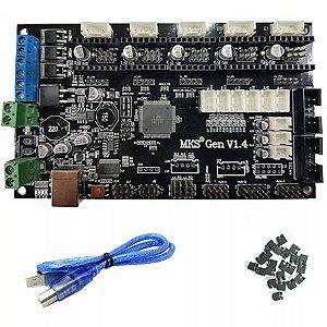 Placa Dedicada Mks Gen 1.4 Para Impressora 3d Com Cabo Usb