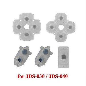 Kit Completo Borracha Condutiva Reparo Controle Ps4 030/040