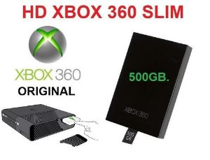 Hd 500gb Para Xbox 360 Slim Ou Super Slim Hd Interno 500 Gb original