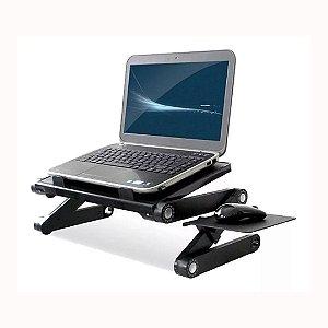 Suporte De Cama Desk Slim C/ Mousepad P/ Notebook Dobrável