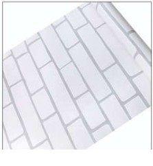 Papel De Parede Adesivo Tijolo Branco Decorativo  45 CmX10 M